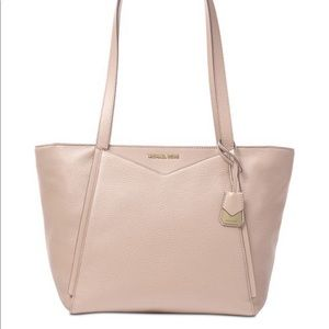 Micheal kors pink/gold Whitney signature med. tote